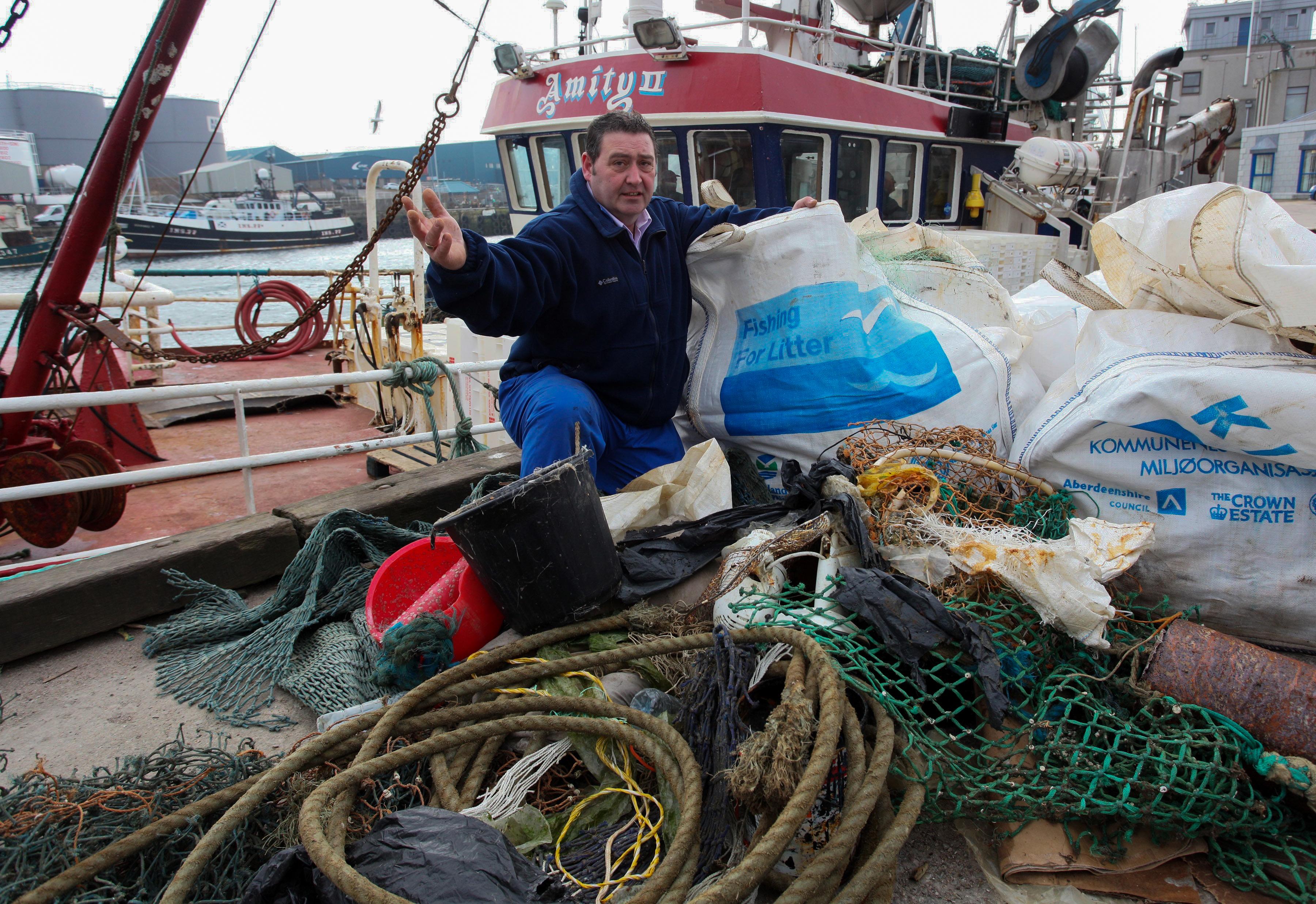 Trawlerman Jimmy Buchan Fishing For Litter